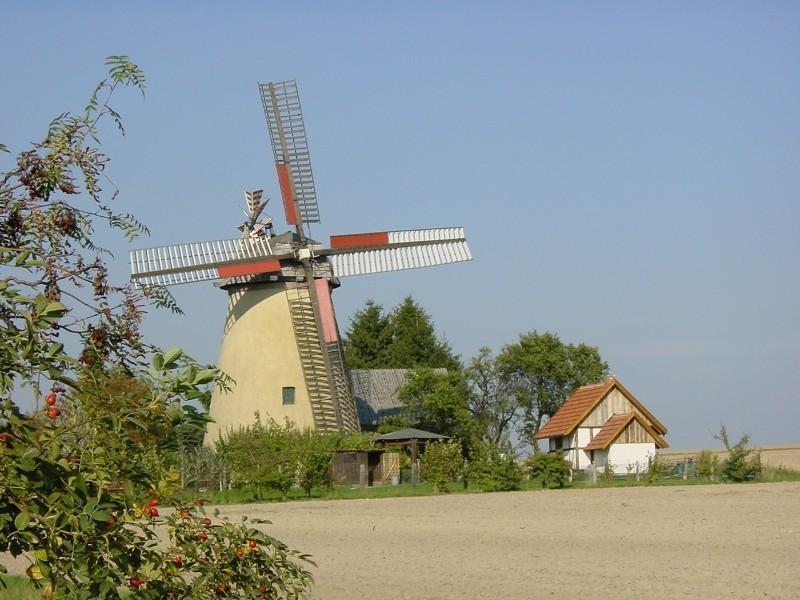 Die Windmühle mit dem Backhaus